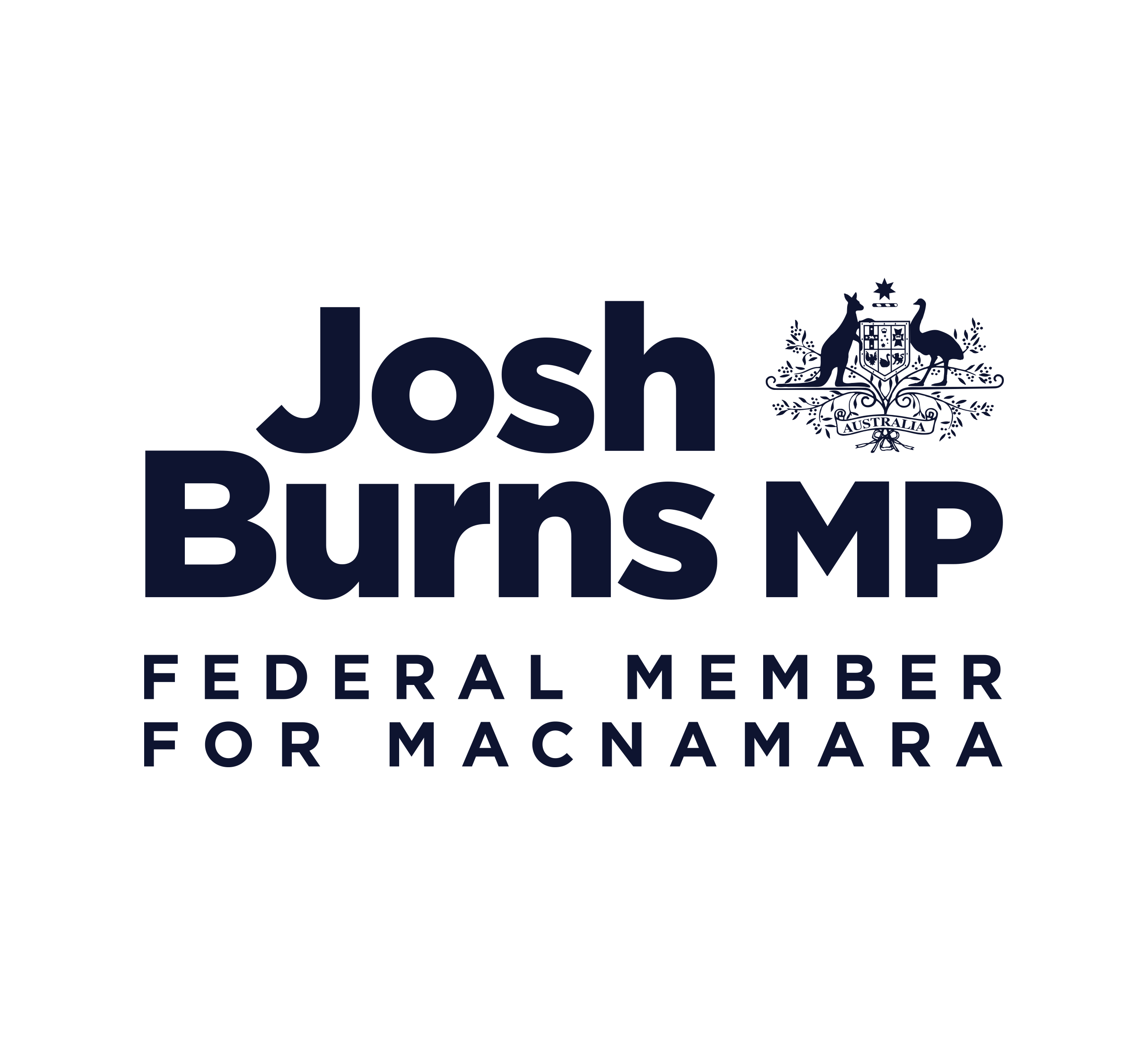 Josh Burns Logo with Padding